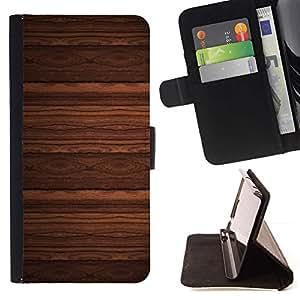 Momo Phone Case / Flip Funda de Cuero Case Cover - Dise?o del papel pintado imitación madera de Brown - Samsung Galaxy S6 EDGE