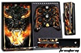 Designer Skin Sticker for the Xbox One Console With Two Wireless Controller Decals- Firestorm