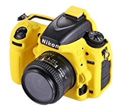 Ychaoya Camera Case Wuzpx Easy Silicone Protective Case for Nikon D750 Camouflage Color : Yellow