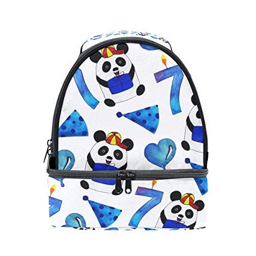 ajustable con para almuerzo Alinlo de aislamiento de pincnic hombro Bolsa para con de con la correa panda diseño escuela el qg6zgw