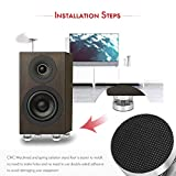 Nobsound 4PCS Silver Aluminum Spring Speakers