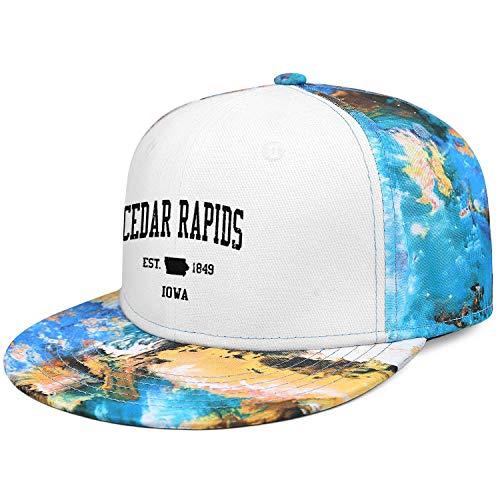 Unisex Snapback Adjustable Camoucap Flat-Brim Hat Baseball Caps - Cedar Rapids Iowa Camo