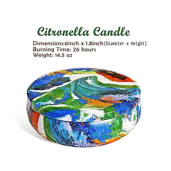51RbptbLNzS SaiXuan Citronella Kerze Duftkerzen in Dose,425g Kerze 100% Sojawachs Outdoor Indoor,Citronella Kerzen für Garten