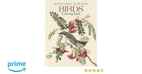 john james audubon birds coloring book pomegranate communications inc new york historical society 9780764950254 amazoncom books