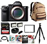 Sony Alpha a7SII Mirrorless Digital Camera with Laptop Storage Backpack and 128GB Card Bundle (Body Only)