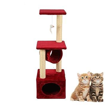 Daeou Árbol para Gatos rascador Perro Gato Mascota de Cuerda Mat 35 * 35 * 109 cm: Amazon.es: Productos para mascotas