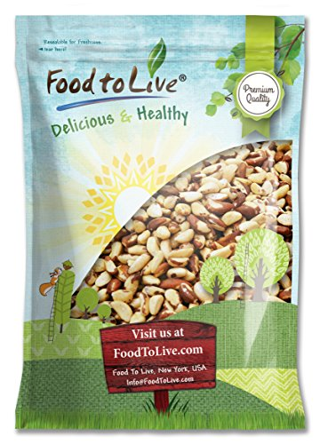 Food to Live BRAZIL NUTS (Whole, Shelled, Raw, Unsalted, Natural) (8 Pounds) by Food to Live