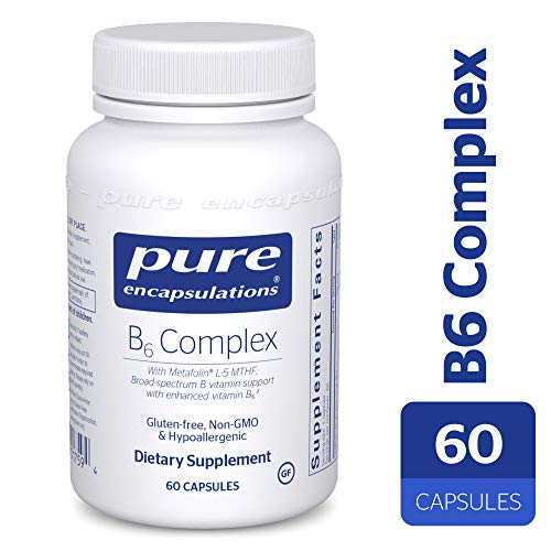 Pure Encapsulations - B6 Complex - Hypoallergenic Dietary Supplement with Metafolin L-5-MTH - 60 Capsules