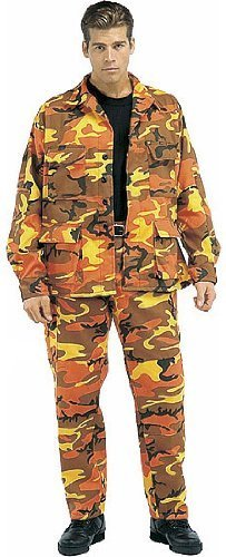 Rothco Camouflage Military BDU Pants, Army Cargo Fatigues (Savage Orange Camouflage, Size 2X-Large)