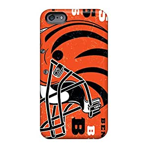 Protector Hard Cell-phone Cases For Apple Iphone 6 Plus (RYe3204szej) Unique Design Colorful Cincinnati Bengals Pattern
