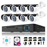 TECBOX 8 Channel Home Security Camera System 720P AHD DVR Recorder 2TB Hard Drive Preinstalled with 8 HD 1.3MP Waterproof Night Nision Indoor/Outdoor CCTV Surveillance Camera For Sale