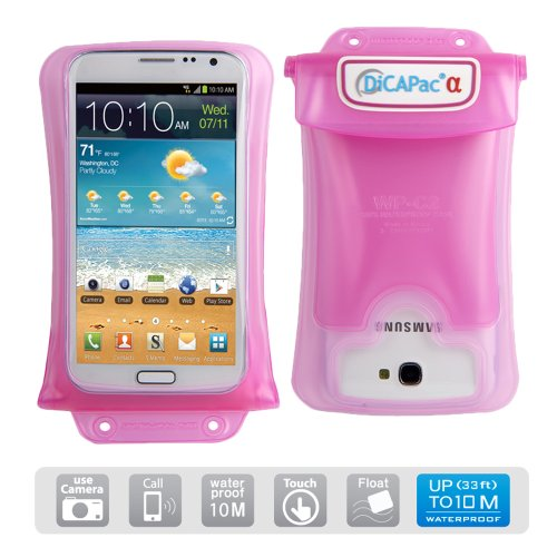 DiCAPac Waterproof Case for HTC One, LG G, Motorola, Nokia Lumia, Samsung Galaxy, Note & Sony Xperia Cell Phones, Smartphones up to 5.7