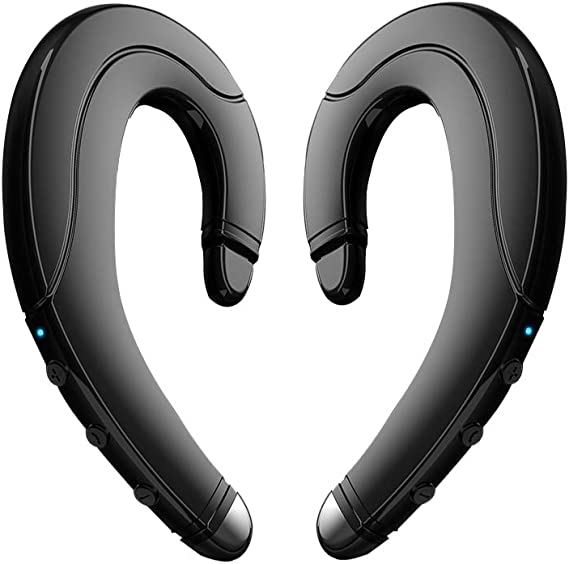 Amazon Com Bluetooth Headphones Non Ear Plug New True Wireless Earbuds Noise Cancelling Handsfree Headset Ear Hook Wireless Headphones With Microphone For Iphone And Android Smart Phones
