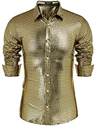 857fa9d8d5d39 Men's Novelty Button Down Shirts | Amazon.com