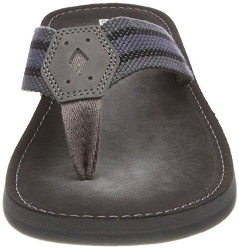 Clarks Lacono Sun, Sandalias de Talón Abierto Para Hombre Gris (Grey/black)