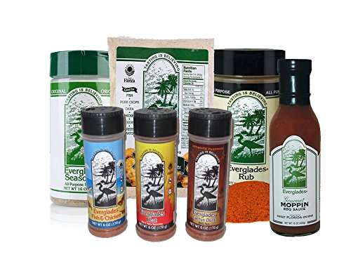 Everglades Seasoning BIG Bundle Moppin Sauce All Purpose Rub Cactus Dust Heat Fish Chicken Breader by Everglades Seasoning