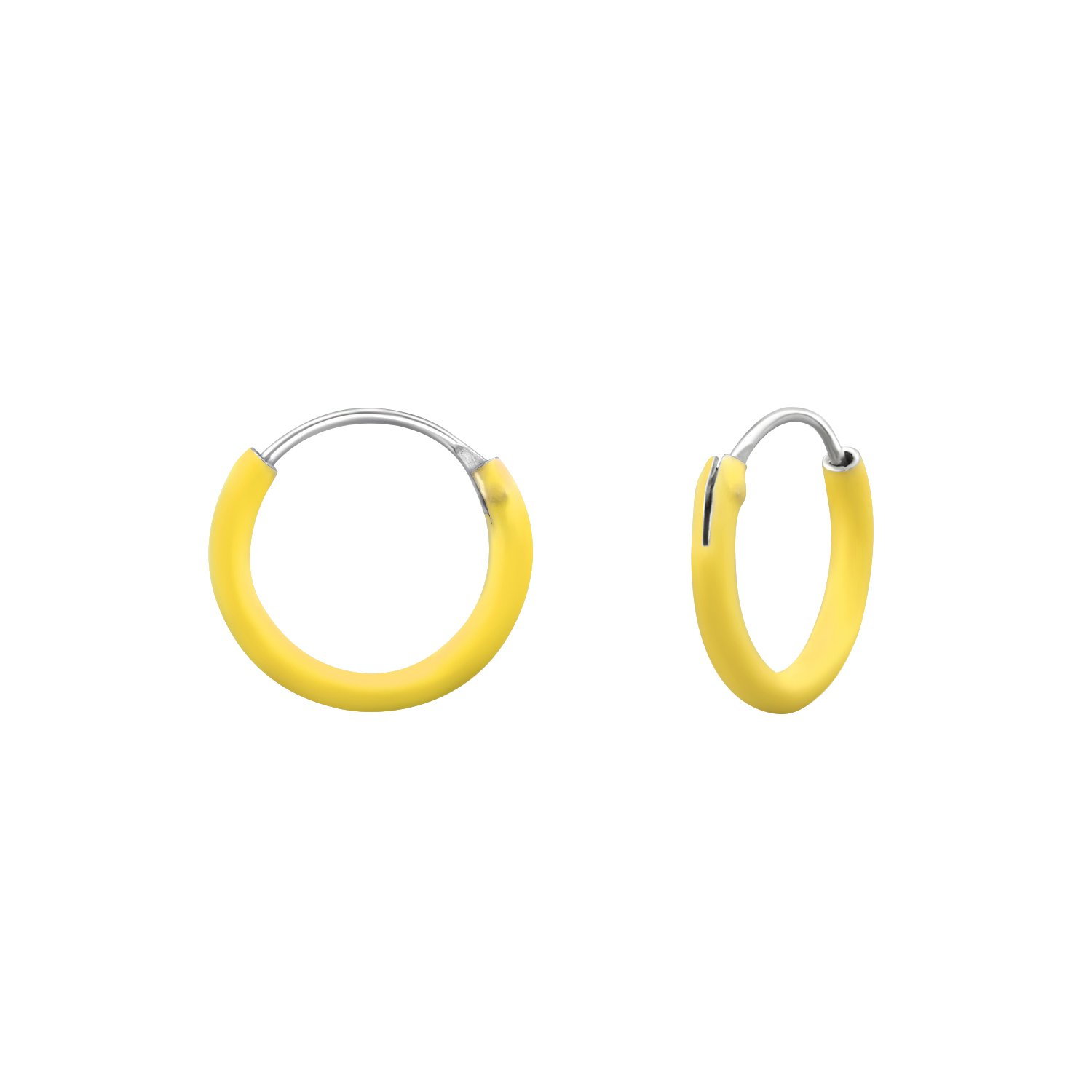 Hypoallergenic Silver Classic Earrings for Girls Yellow Nickel Free and Safe for Sensitive Ears
