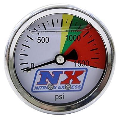 Nitrous Express 15508 0-1500 psi Nitrous Pressure Gauge: Automotive