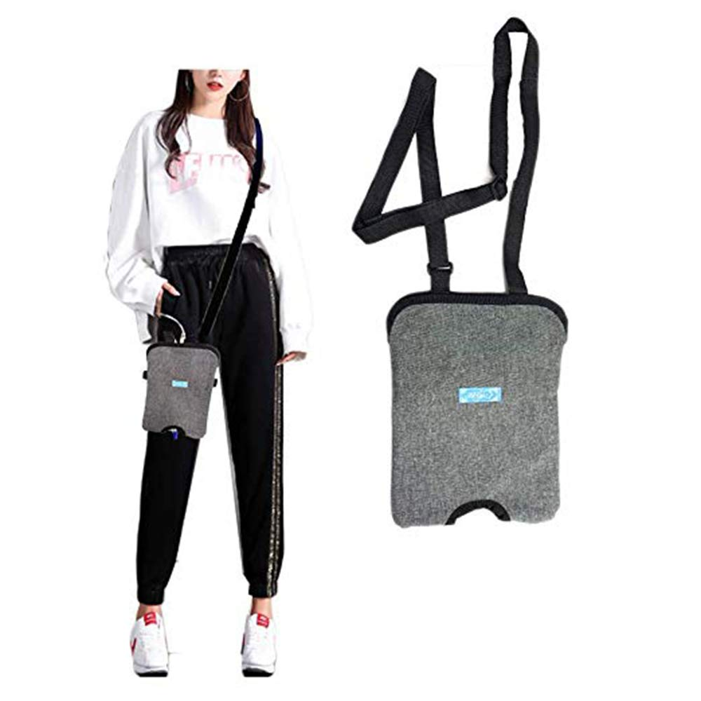 BIHIKI Incontinence Kit,Urinary Catheter Bag Ostomy Bag Holder,Bladder Ostomy Elderly Drainage Bag Care Package with Adjustable Shoulder Strap for Home,Travel,Wheelchair,Bed (2000ML)