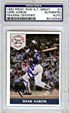 Hank Aaron Signed 1992 Front Row Card #1 Atlanta Braves - PSA/DNA Authentication - Autographed MLB Baseball Cards