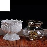 for the Buddha light long light Buddhism ceramic oil lamps Buddha Lotus light-A