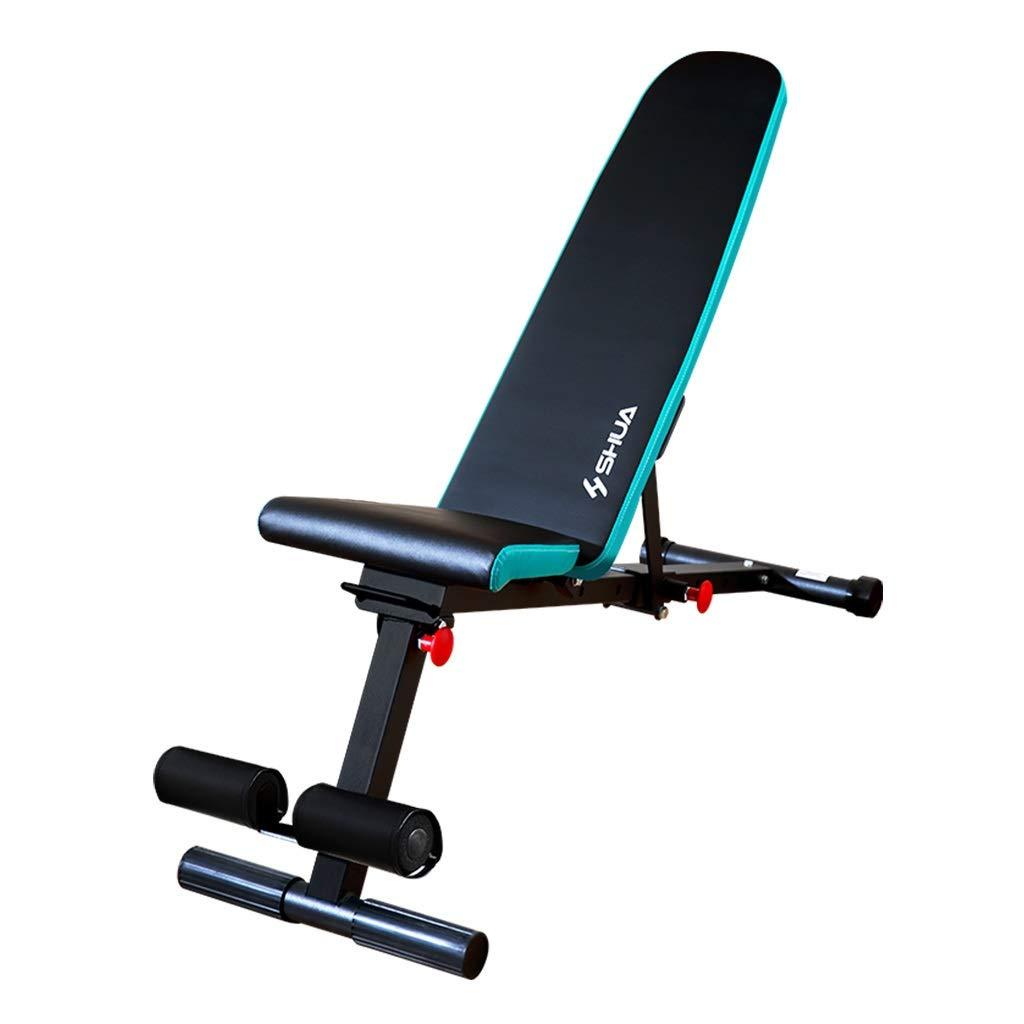 腹筋器具 調節可能なウェイトベンチホームトレーニングジムウェイトリフティングベンチマルチユーズエクササイズワークアウトベンチ (Color : Blue)  Blue B07KJHTYG5