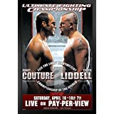 Pyramid America UFC 52 Randy Couture vs Chuck Liddell Sports Framed Poster 12x18 inch