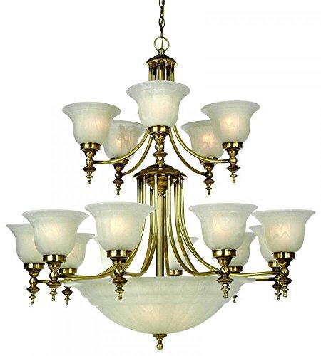 Dolan Designs 668-18 Richland 20 Light 2 Tier Bowl Chandelier, Old Brass