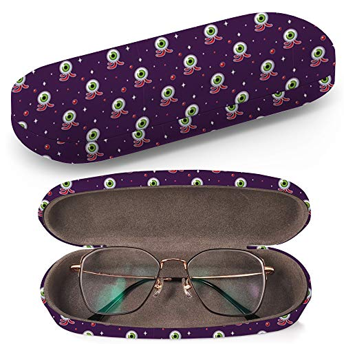 Hard Shell Glasses Protective Case with Cleaning Cloth for Eyeglasses and Sunglasses - Bloody Eyeball Halloween]()