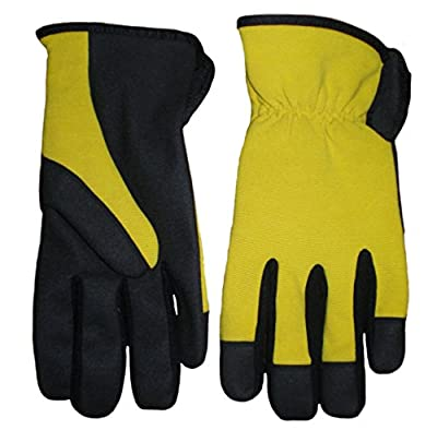 Heavy Duty Mechanic Work Gloves with Outstanding Protection, and Durability. Stylish Modern Look, New Yellow, All Sizes