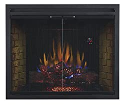"ClassicFlame 39EB500GRS 39"" Traditional Built-in Electric Fireplace Insert with Glass Door and Mesh Screen, Dual Voltage Option by ClassicFlame"