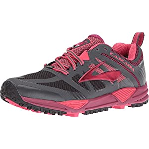 Brooks Women's Cascadia 11 GTX Anthracite/Teaberry/Raspberry Radiance Sneaker 8 B (M)