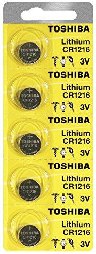 Toshiba CR1216 3 Volt Lithium Coin Battery (5 Batteries)