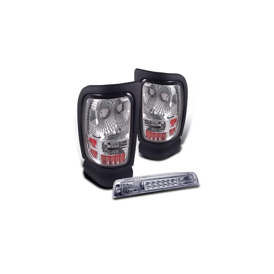 Eautolights 94 01 Dodge Ram Clear Tail Lights + LED 3rd Brake Light