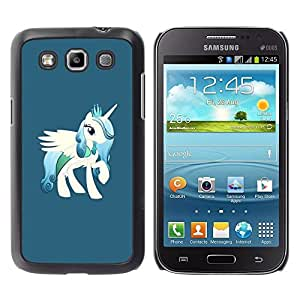 Design for Girls Plastic Cover Case FOR Samsung Galaxy Win I8550 Unicorn White Pony Cartoon Drawing Horse OBBA