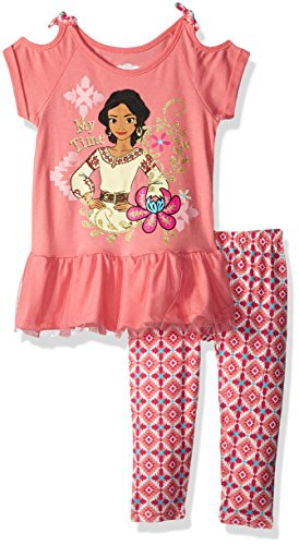 Disney Girls Elena of Avalor 2 Piece U-Neck Legging Set