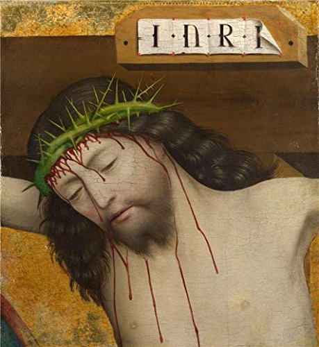 Perfect Effect Canvas ,the High Quality Art Decorative Canvas Prints Of Oil Painting 'Master Of Liesborn-Head Of Christ Crucified,1470-80', 20x22 Inch / 51x55 Cm Is Best For Study Artwork And Home Decoration And Gifts