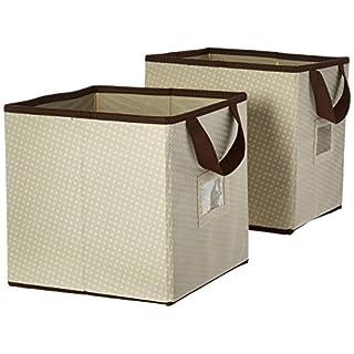 Delta Children 2 Piece Printed Storage Boxes, Beige