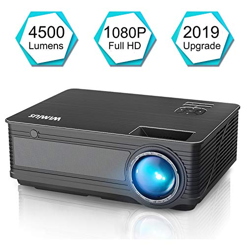 Projector, WiMiUS P18 Upgraded 4500 Lumens LED Movie Projector Support 1080P Full HD 200