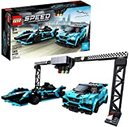 LEGO Speed Champions Formula E Panasonic Jaguar Racing Gen2 car and Jaguar I-PACE eTROPHY 76898 Building Kit,
