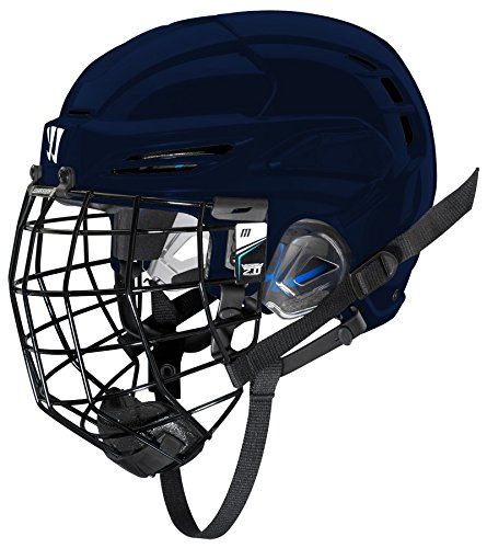 Warrior PX2HC6 Ice Hockey Players Helmet with Cage, Navy, Small