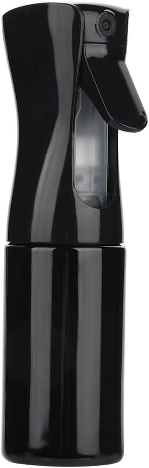 Botella de Spray Peluquería Plástico de Rociar Agua para Peluquería Salón Presión de mano rociador de agua(Negro(L))