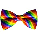 Rainbow Pride Striped Bow tie - Handmade Dog or Cat Handcrafted Bow Tie Including Collar