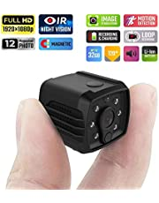 Home Security Mini Hidden Camera with Motion Detection, Wall Mount, HD Video, Cloud Storage and WiFi
