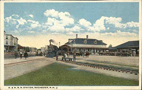 B&m Railroad - B. & M. Railroad Station Rochester, New Hampshire Original Vintage Postcard