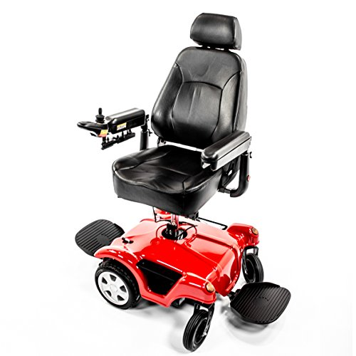 Merits P312 FWD/RWD Dual Base TurnAbout Powerchair with Elevated Power (Best Merit Wheelchairs)