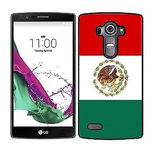 FUNDA CARCASA PARA LG G4 DISEÑO BANDERA MEXICO MOD.2