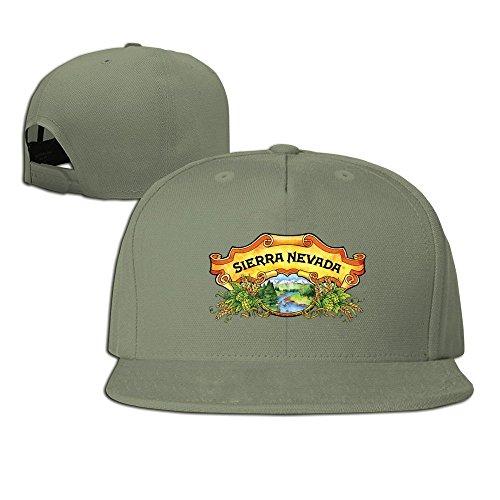 Borsalino Leather - NANA ROCK HAT Sierra Nevada Beer Snapback Hat Flat Baseball Cap One Size ForestGreen