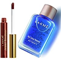 Lakme Jewel Sindoor, Maroon, 4.5ml & Lakmé Nail Color Remover, 27ml