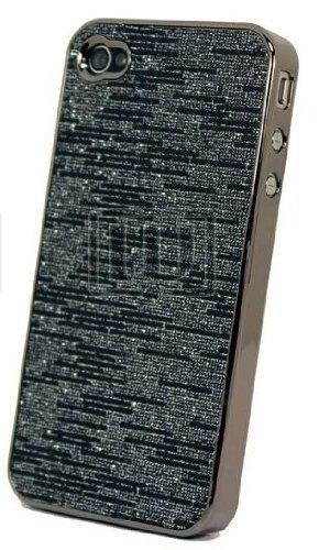itronik® Luxus Hard Case Elektro Electroplating HÜLLE TASCHE für APPLE IPHONE 4 4G 4S DELUXE CASE HARDCASE ETUI HÜLLE SCHUTZHÜLLE COVER BUMPER SCHWARZ